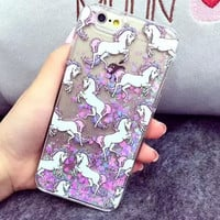 Cute Unicorn iPhone 7 7Plus & iPhone 6s 6 Plus Cover Case + Gift Box