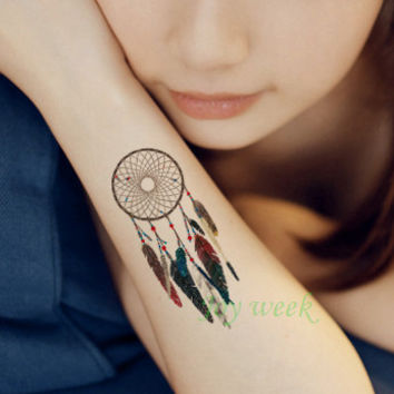Waterproof Temporary Tattoo sticker on body dreamcatcher dream catcher tattoo Water Transfer fake tattoo flash tattoo for girl