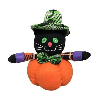 Pumpkins Doll for Halloween Party Decor Black Cat Witch Ghost Doll Toys for Halloween Party Decor Cute Doll for Home Decorations