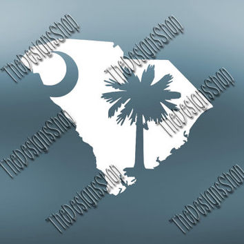 South Carolina Palmetto Home State Svg Dxf Cut File | South Carolina File | Love JPG Sticker | Svg Dxf Jpg Jpeg  PDF | Carolina Girl | 238