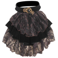 Steampunk Tiered Lace Jabot Collar - RL-SP065 by Medieval Collectibles