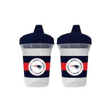 NEW ENGLAND PATRIOTS BABY 2 PACK SIPPY CUP NEW & OFFICIALLY LICENSED BPA FREE