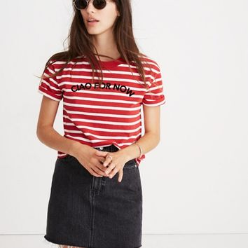 Striped Ciao For Now Tee