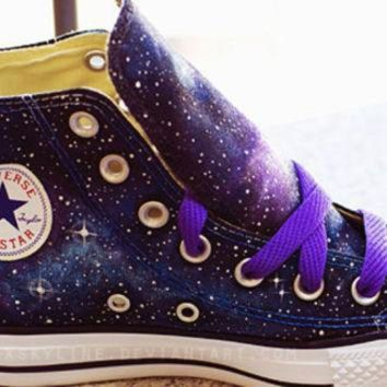 ICIKGQ8 galaxy converse sneakers hand painted low top