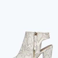 Nieve Snake Print Cut Out Shoe Boots
