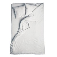 Dove grey linen duvet cover Double, 200cm x 200cm by LOVELY HOME IDEA