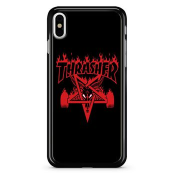 Thrasher Logo Red iPhone X Case