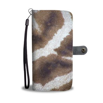 The Fur Pattern Phone Wallet Case
