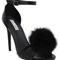 Secret Keeper Pom Pom Peep Toe Heels