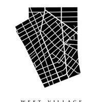 West Village Map - Manhattan, NYC Neighbouhood Art Print