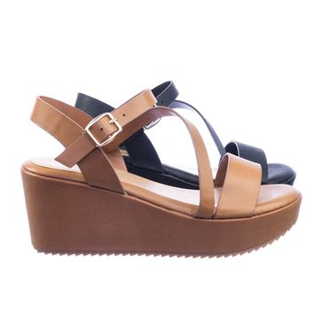 Collect04 Soft Comfortable Platform Wedge Open Toe Strappy Sandal w Lug Sole