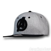 Avengers Movie Symbol Snapback Flat Billed Cap