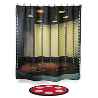 Star Trek Transporter Room Bath Mat & Shower Curtain Set