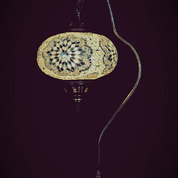 Large Size Turkısh Swanneck  Mosaıc Lamp Table Lamp Floor Lamp Lamp Shade