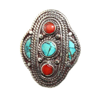 center Turquoise ring