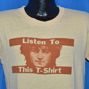 70s John Lennon Walls and Bridges Listen to This t-shirt  Medium