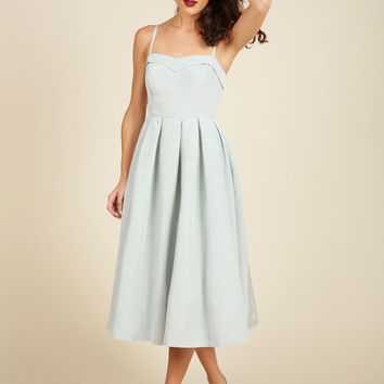 Convivial Connection Midi Dress in Mist | Mod Retro Vintage Dresses | ModCloth.com