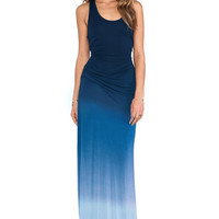 Blue Crew Chiffon Maxi Dress
