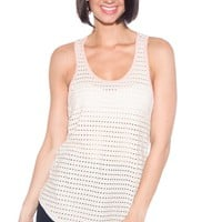 Sporty Spirit Mesh Tank Top - Cream