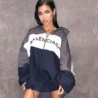 BALENCIAGA Fashion Couple Zipper Cardigan Sportswear Sweatshirt Jacket Coat Windbreaker