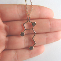Whisky Molecule Necklace for Whisky Lovers and Connoisseur