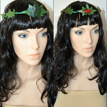 Poison Ivy Rhinestone Crown Headdress Costume Rave Cosplay