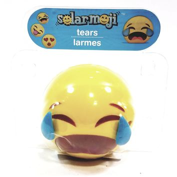 Solar Dancer Yellow EMOJI Crying Your Eyes Out Face Solar/Light Activated Moving Tears