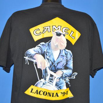 90s Joe Camel Cigarettes Laconia 94 Pocket t-shirt Extra Large