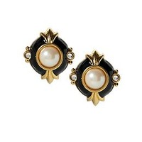 Vintage Deco Earring with Pearls and Crystals