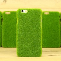 Green Grass Lawn Shockproof Phone Case for iPhone