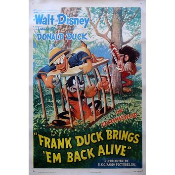 Rare Vintage Donald Duck Movie Poster// Classic Disney Movie Poster//Movie Poster//Poster Reprint//Home Decor//Wall Decor//Vintage Art