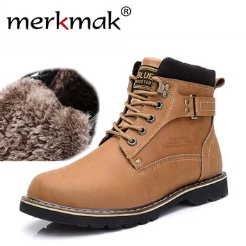 New 2017 Winter Mens Ankle Boots Casual Black PU Leather Boots For Men Shoes Fashion W