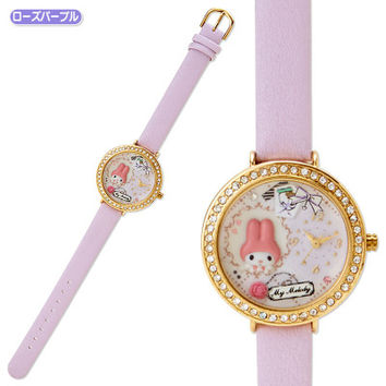 My Melody Deco Wrist Watch Decoration Rose Purple SANRIO JAPAN