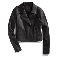 Veda x Madewell Black Leather Moto Jacket