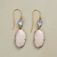 moonlit pink opal earrings