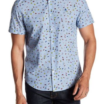DCCKHB3 Original Penguin | Butterfly Print Button Heritage Slim Fit Shirt