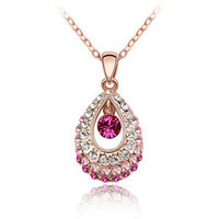 Gift Shiny Stylish New Arrival Jewelry Crystal Accessory Korean Princess Necklace [9819388943]