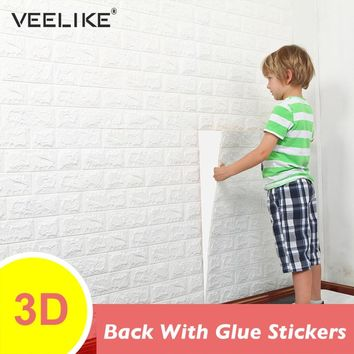 PE Foam 3D Wall Panel Sticker Safety Home Decor DIY Self adhesive Wallpaper Living Room Background Kids Bedroom Brick Wallpaper