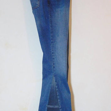 Levi Bell Bottom, Hippie Jeans, Upcycled Clothing, Levi 505, Low Waist, Size 10, Long, Womens Bell Bottoms, Bell Bottom Jeans, Bellbottom