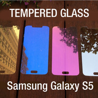 Colored Tempered Glass Mirror Screen Protector Film for Samsung Galaxy S5 S6
