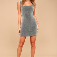 Allure of the Night Silver Bodycon Dress