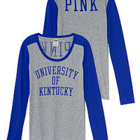 University of Kentucky Long Sleeve Scoopneck Tee - PINK - Victoria's Secret