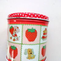 Vintage Strawberry Shortcake Metal Canister 1980