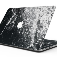Black and White Grungy Marble Surface - MacBook Pro with Retina Display Full-Coverage Skin Kit