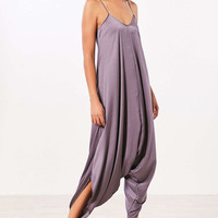 Silence + Noise Oversized Satin Jumpsuit - Urban Outfitters