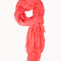 Frayed Neon Scarf