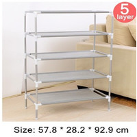 Shoe Cabinet Non-woven Shoes Racks Storage Large Capacity Home Furniture DIY Simple 5 layers