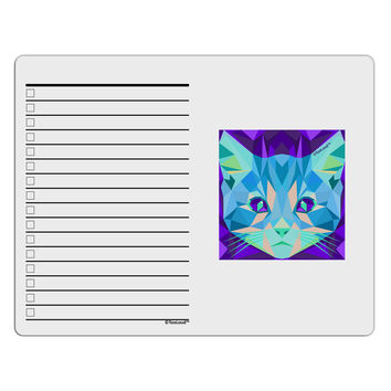 Geometric Kitty Inverted To Do Shopping List Dry Erase Board