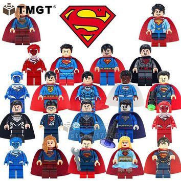 TMGT Single Sale Super Heroes Bricks Zombie Spiderman Black Superman Supergirl Building Blocks Gift Toys For Children Friend