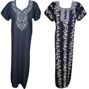 Fleur Womens Caftan Printed Cotton Summer Kaftan Nightgown Maxi Dress M Lot Of 2: Amazon.ca: Clothing & Accessories